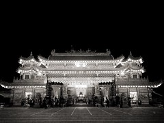 Traditional Taiwanese Temple. (Alphie Chen) Tags: night architecture builtstructure illuminated buildingexterior tourism traveldestinations architecturalfeature history traditionalculture traditional cultures taiwan kaohsiung temple templebuilding temples templearchitecture templephotography iphone5s iphonephotography