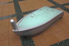 Boat-shaped object in Toyosu (nekodori) Tags: s90 toyosu