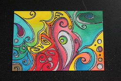 Blended Sharpie Postcard