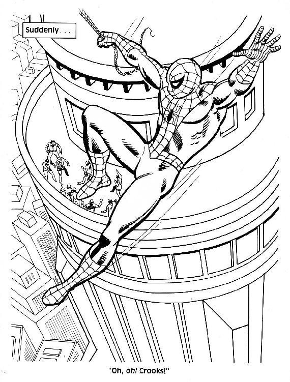 Spider-Man Unmasked! Coloring Book004