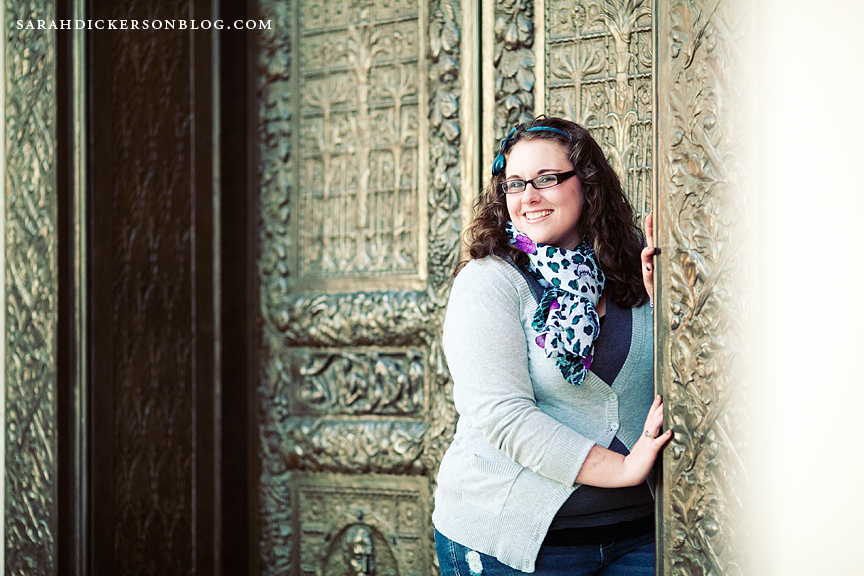 Kansas City Nelson Atkins Museum of Art senior portraits