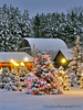 Christmas Tree Farm ... open! (Ken Scott) Tags: christmas winter usa snow fall twilight december michigan barns 2006 christmaslights leelanau fhdr valentinetreefarm kenscottphotography kenscottphotographycom