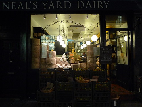 Vitrine Neal's Yard Dairy - Londres, novembre 2010
