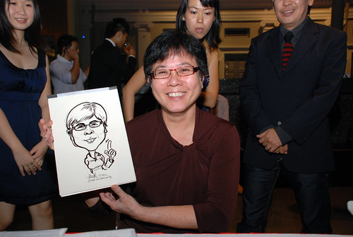 Caricature live sketching for Autism Association(Singapore)- Staff Dinner 2010 - 8