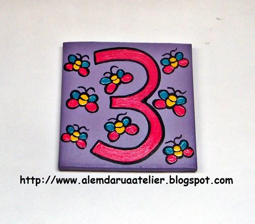 número pintado à mão