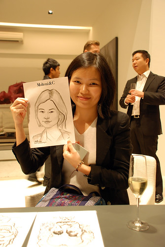 Caricature live sketching for Molteni & C - h