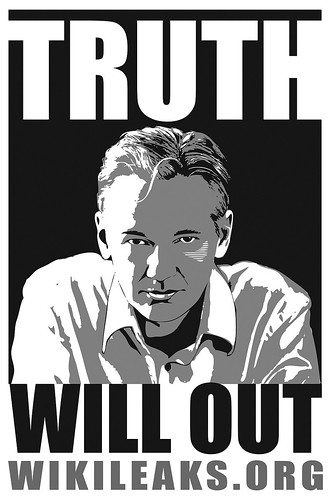 TRUTH WILL OUT (Julian Assange) Wikileaks.org - Poster for Wikileaks.org