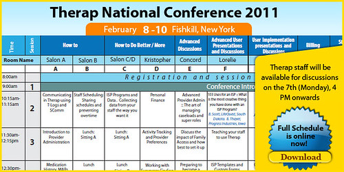 The schedule for the national conference for 2011 is online now. Download it.