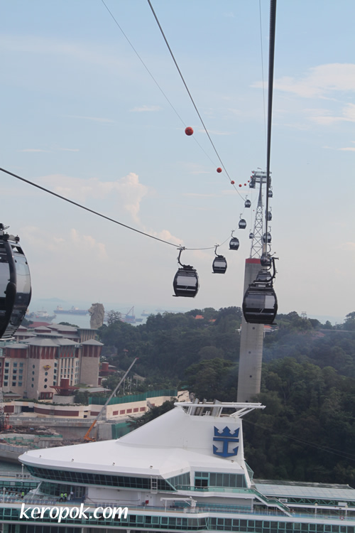 Royal Caribbean and Cable Car on Top
