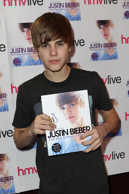 Justin Bieber signing and photo event at The Garage, London, December 2010
