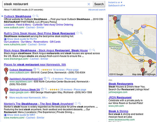 Google Places SERP Displays #4