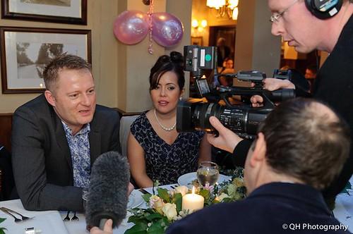 BBC interview at wedding