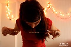 day i - sara in wonderland (365daysofsarav) Tags: christmas girl hair lights pearls messy 365