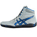 Asics Aggressor Grey and Royal Blue Wrestling Shoes 10