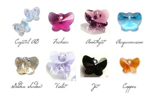 colori farfalle swarovski