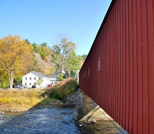 Side of the West Cornwall Covered Bridge