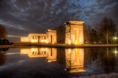 Debod Temple Madrid (mathewbest) Tags: madrid canon cityscape hdr scky photomatix 5d2