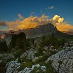 Sunset at Sella Group, Dolomites, Italy
