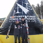 Sarah Freeman & Tyler Werry - Top Juniors at Lake Louise Nor-Am Downhill 2010