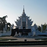 Chiang Rai - Wat Rong Khun (The White Temple)  Front view thumbnail