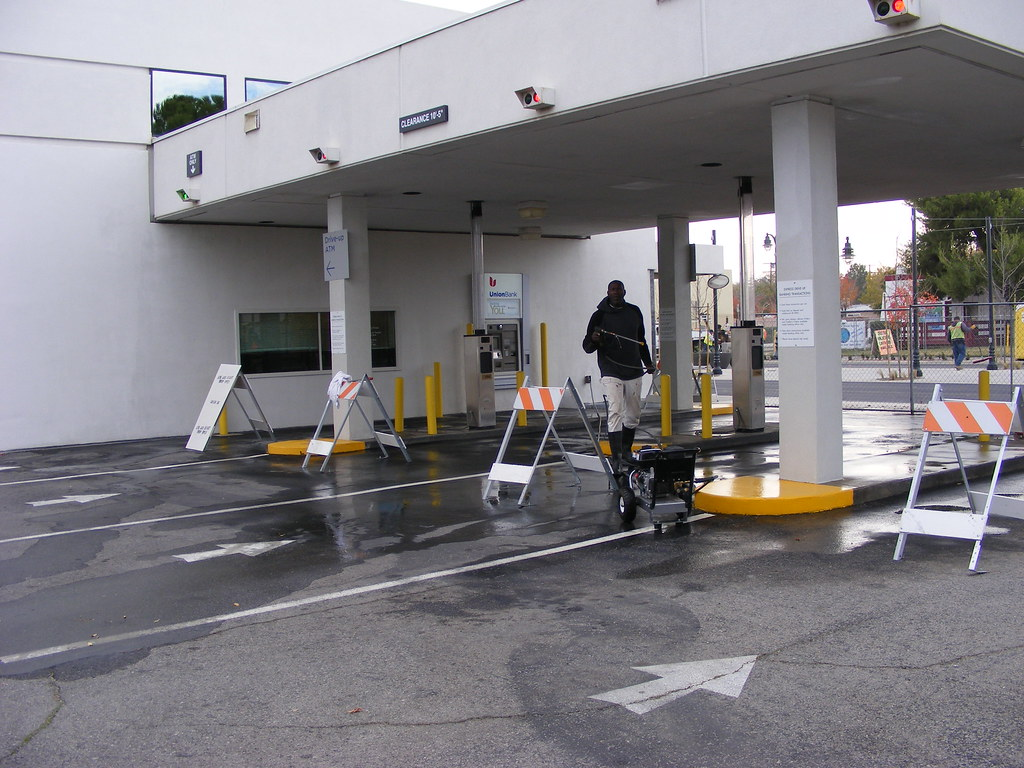 Pressure Washing Union Bank in Lancaster, CA