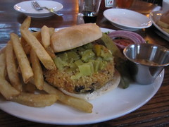 Devils' veggie burger