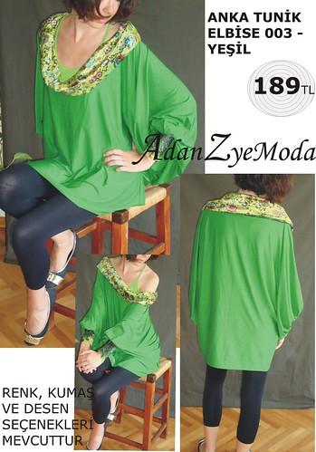 Anka Tunik Elbise 003 green