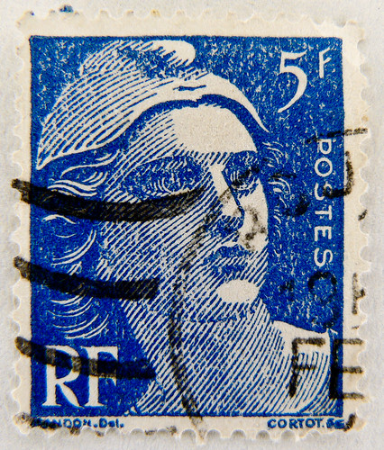 "beautiful old french France 5 f stamp France Marianne postes timbres Briefmarke Frankreich Marianne ""Gandon"" timbre Republique Francaise Frankreich RF Postes 5F blue francaise postage revenue porto francobolli bollo sello marke marka franco timbres 5 F"