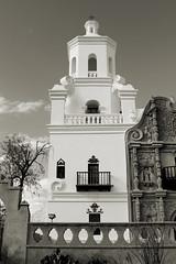 San Xavier del Bac in Tucson (Laveen Photography (aka cyclist451)) Tags: arizona white church architecture del community san tucson native indian az historic american xavier reservation bac oodham tohono