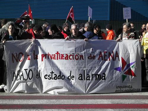 Contra la privatización, y la solidaridad con los controladores