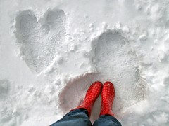 joy is your lesson.... (janoid) Tags: winter snow love hearts holidays joy snowboots