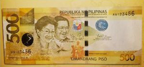 Phillipines 500 Piso banknote
