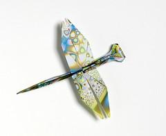 Origami création - Didier Boursin - Libellule