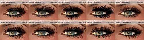 Garage eyelashes 1-10