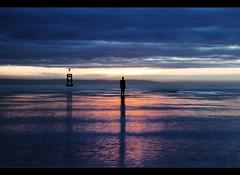 Sun bathing, Crosby beach, HSS! (Ianmoran1970) Tags: sunset sea cloud beach water liverpool river landscape evening crosby anotherplace ianmoran ianmoran1970