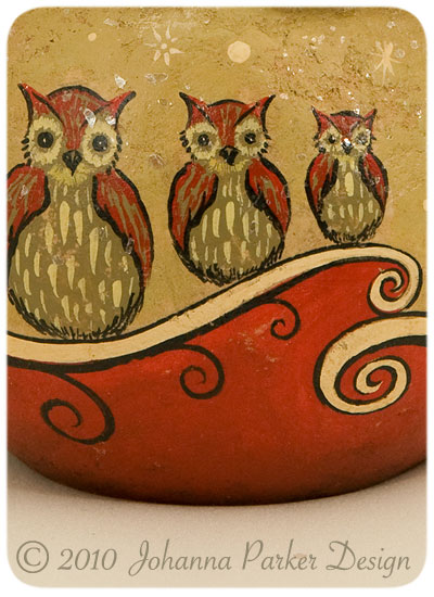 Painted-holiday-owls
