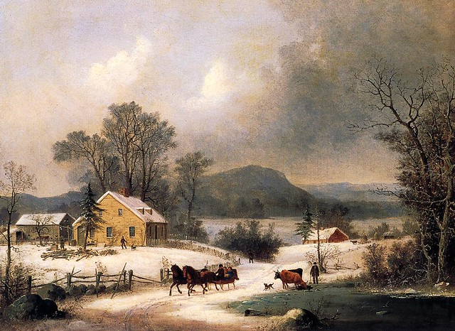 A Sleigh Ride in the Snow 1860