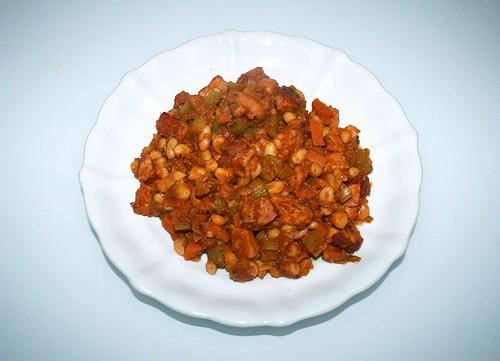 31 - Kassler-Bohnen-Pfanne - fertiges-Gericht