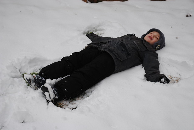 Cole's snow angel