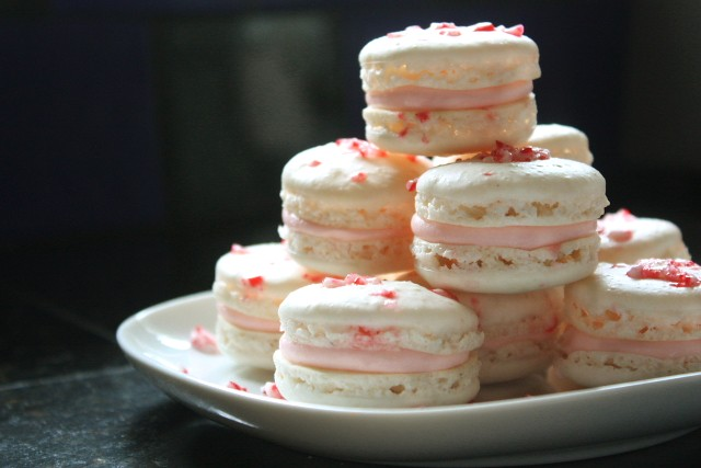 Candy Cane French Macarons - Completely Delicious