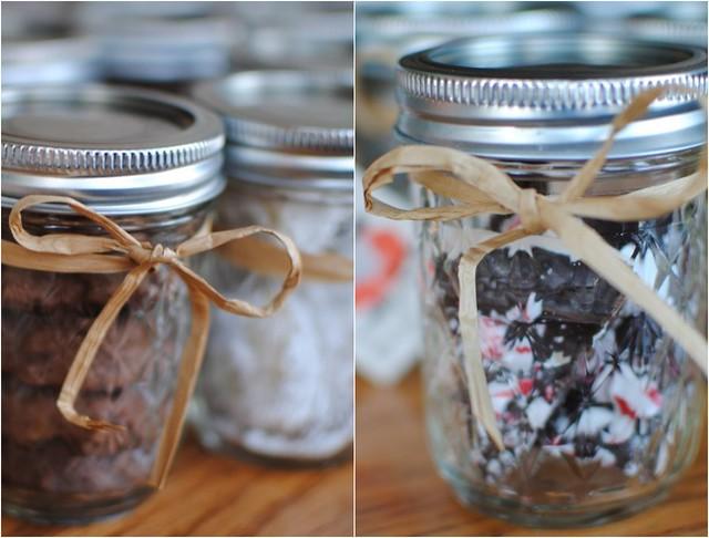 baked goods + mason jars