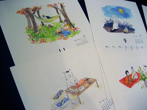 Nekomura-san's 2011 calendar