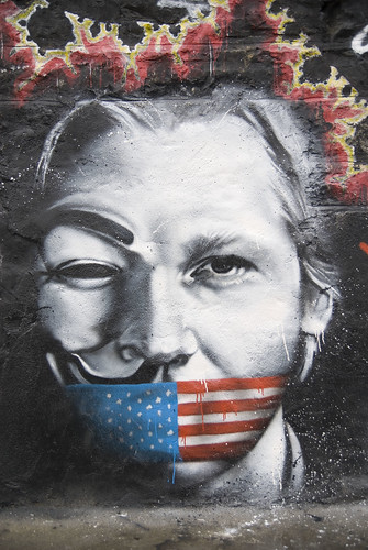 From flickr.com: Julian Assange Wikileaks named Man of the Year by Le Monde {MID-64966}