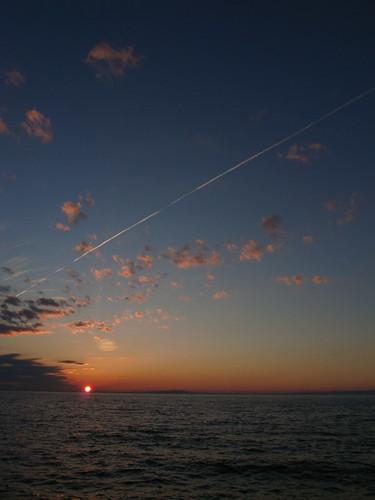 Evening sun in Toyama bay.