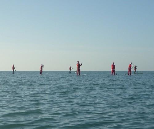 santas walking on water