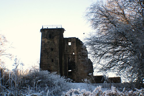 Crookston Castle in Winter