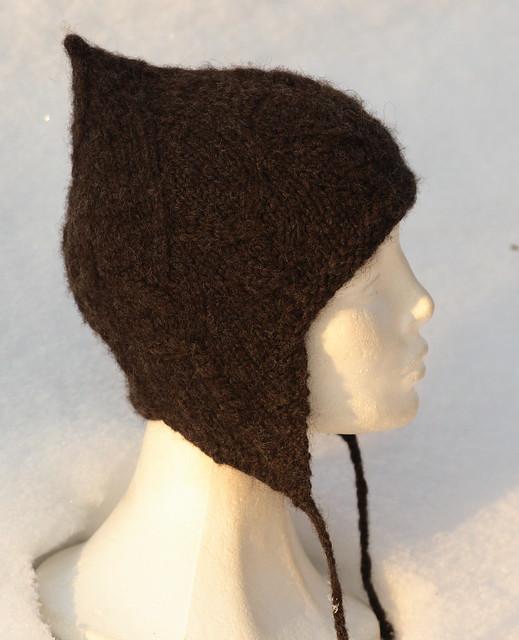 Handspun Corriedale - Big Warrior Hat, lett tovet - korrekt farge IMG_3716