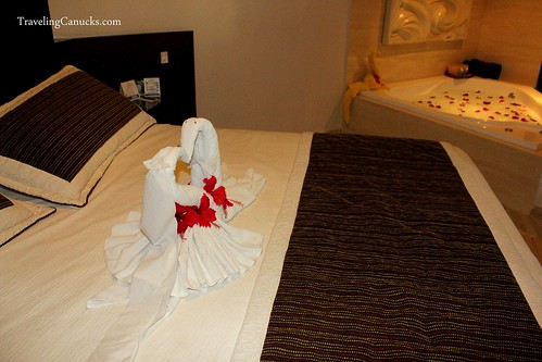 Bedroom and Jacuzzi at Bavaro Princess