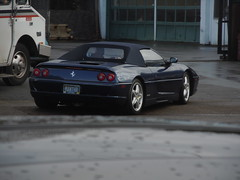 1995 Ferrari F355 Spider (SoulRider.222) Tags: blue reflection car portland afternoon convertible ferrari handheld portlandoregon bluecar madeinitaly lhd topup softtop italiancars 12810 sooc ferrarif355spider blueferrari 1995ferrari convertibleferrari autoitalianeitaliancars seburnsidestreet nikonsooc softtopup 1995ferrari355 nikoncoolpixs8000 1995ferrarif355spider