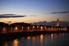 segui il fiume (valeria rapalino) Tags: nikon italia nuvole fiume chiesa campanile verona luci acqua riflessi gru adige viale gialle d80